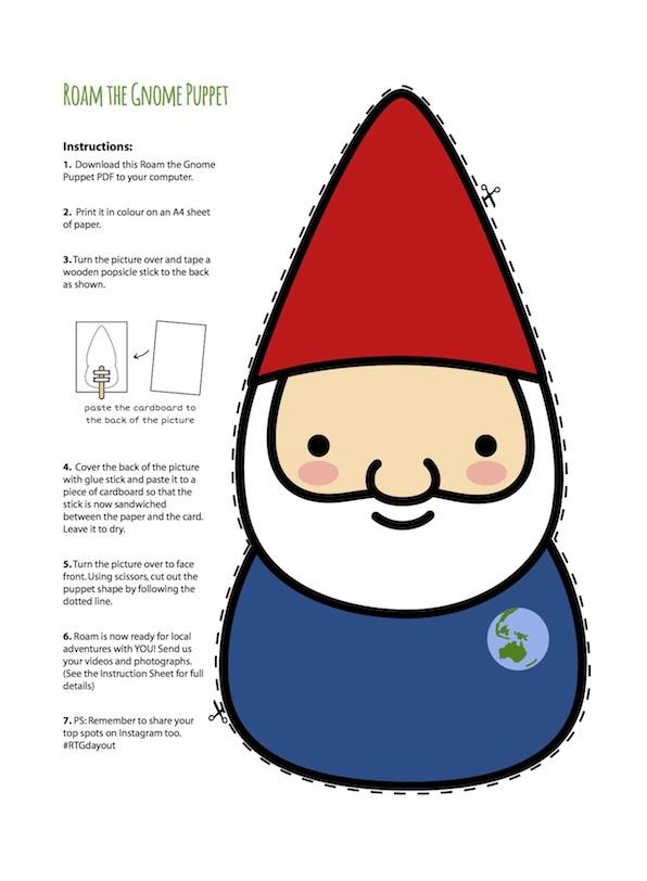 Roam the Gnome Puppet Printable