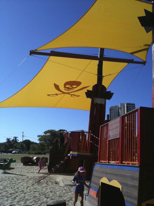 pirate park palm beach shade sail