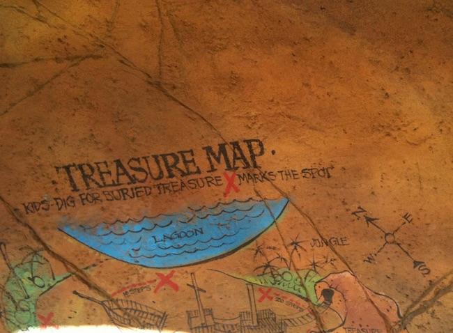 pirate park palm beach treasure map