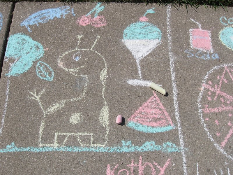 chalk art by franklin park library