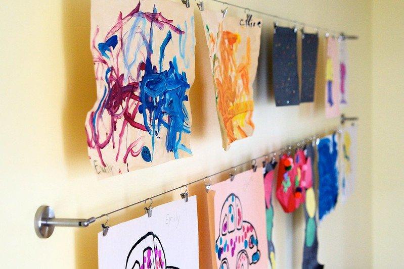 childrens art gallery wall by peter van broekhoven