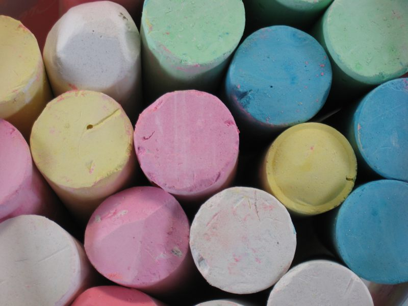 fun things to do at home for free - use colored pavement chalk by steve johnson