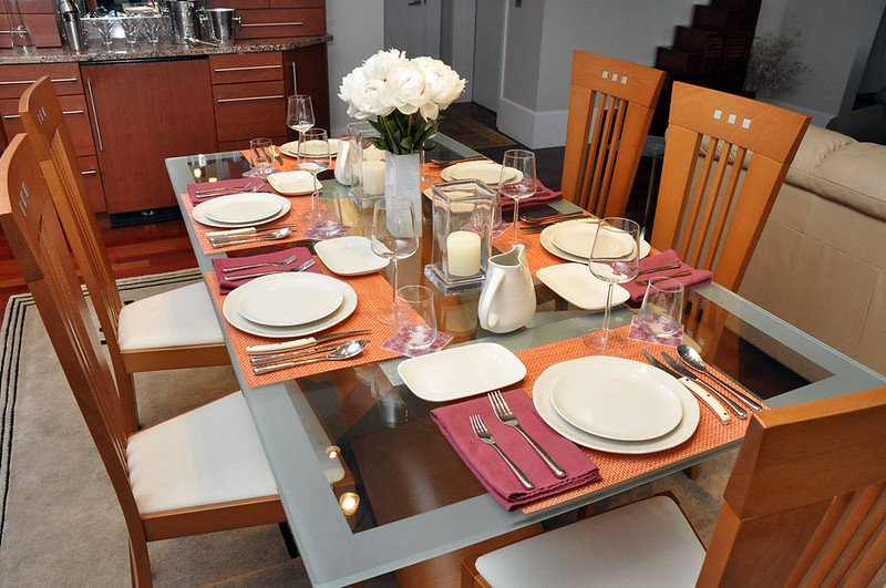 dinner table setting by didriks