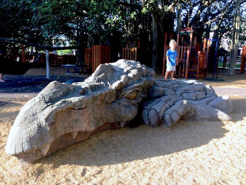 dragon at new farm park