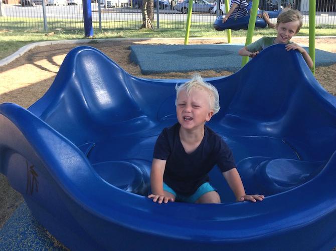 kirra beach playground merry go round pic