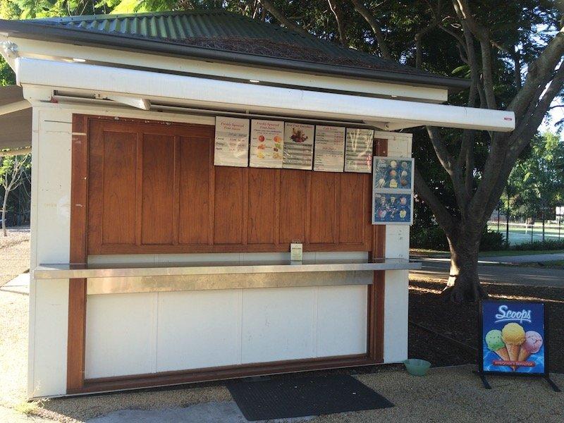 new farm park cafe stall
