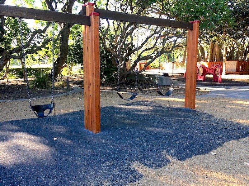 swings at new farm park pic