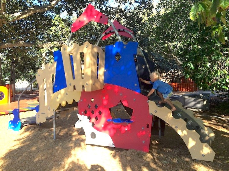 toddler fort at new farm park pic