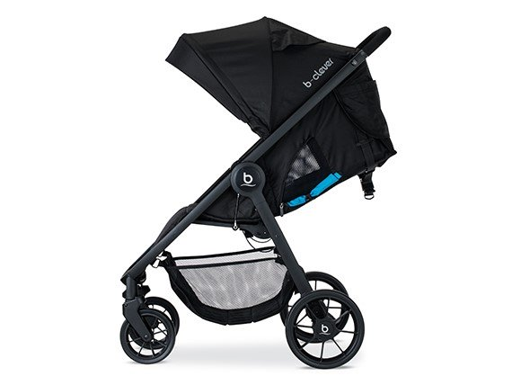 britax b clever stroller for travel side view pic