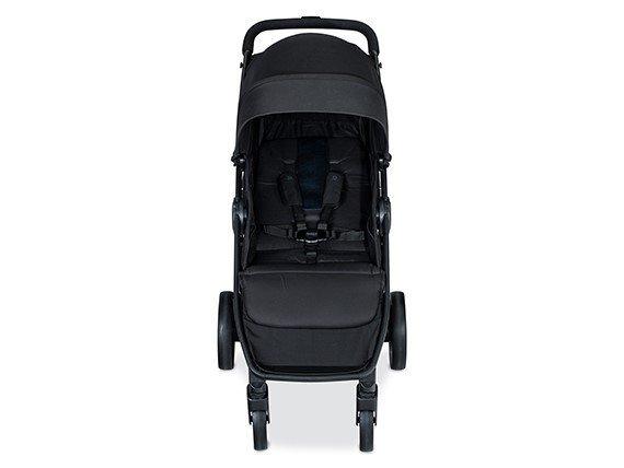 britax b-clever stroller straps view