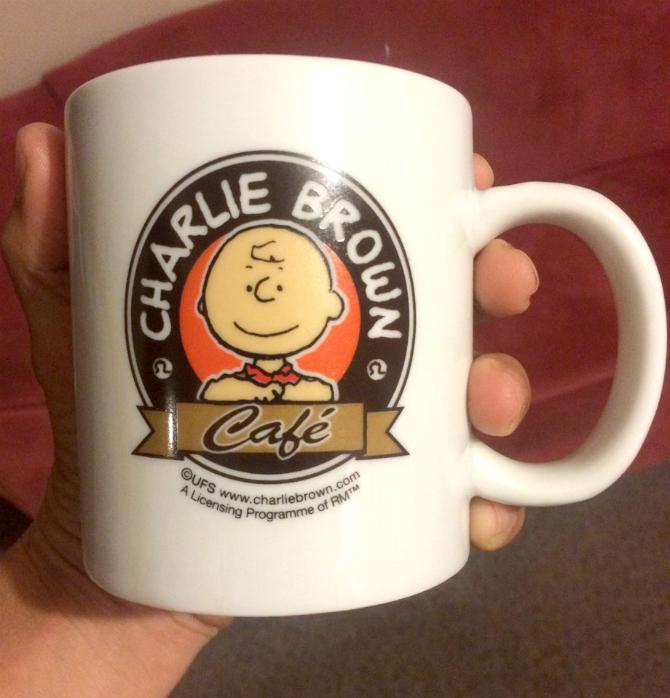 charlie brown cafe hong kong mug souvenir pic