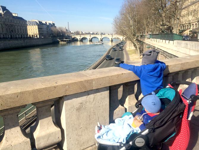 paris with britax travel stroller