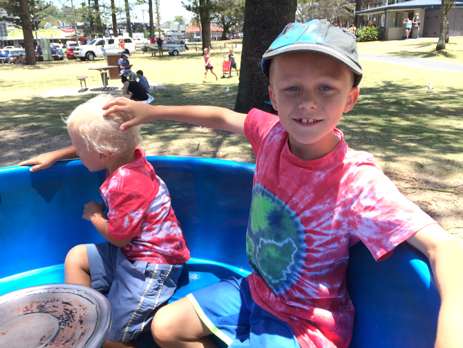 ned and jack at justins park burleigh heads pic
