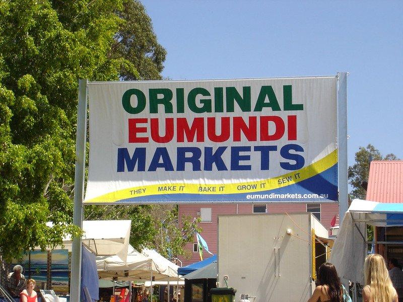 eumundi markets sign by anna