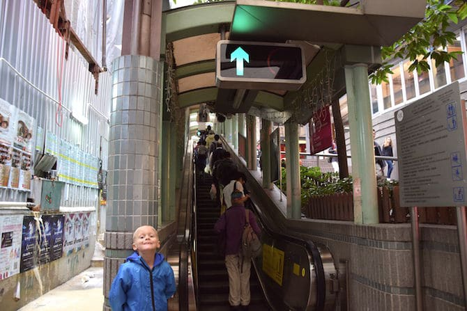 hong kong escalator street direction up pic