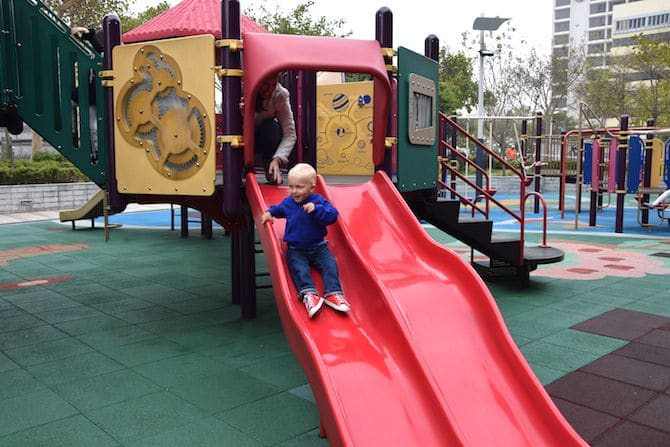 jack at middle road children's playground in hong kong pic