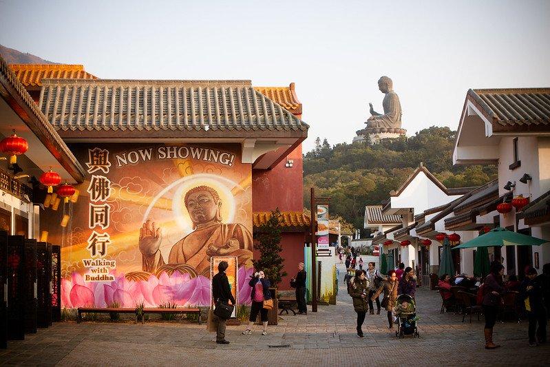 walking with buddha show at ngong ping by jirka matousek