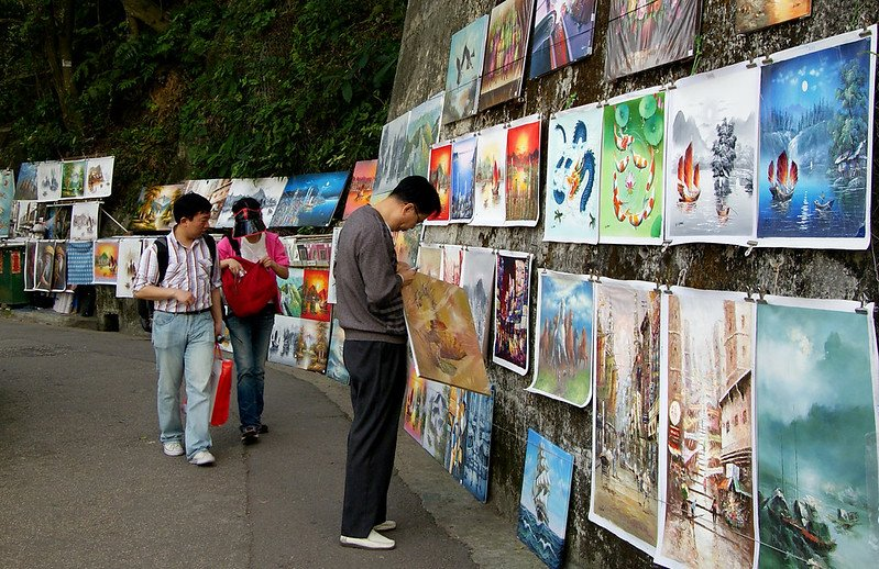 art for sale at the peak hong kong pic flickr