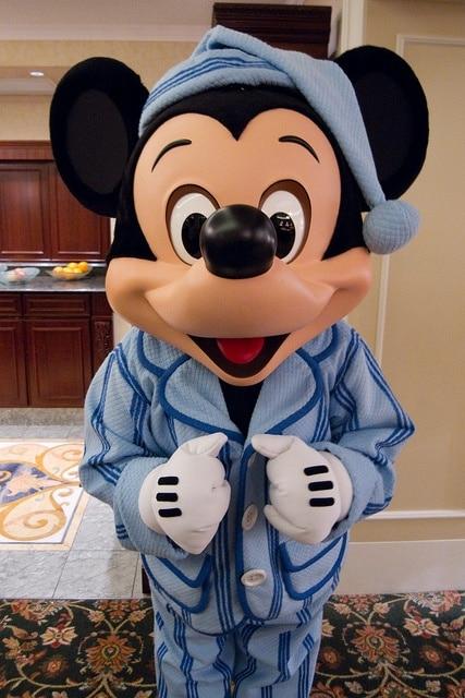 mickey in pyjamas at hong kong disney hotel