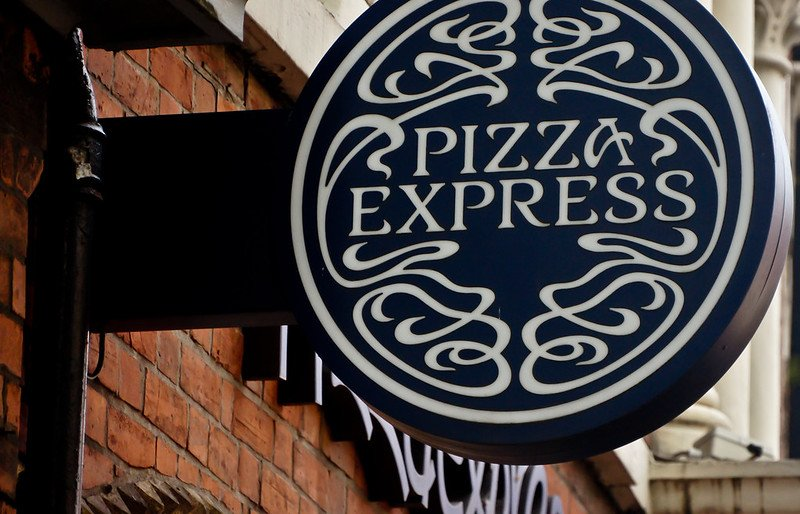 pizza express sign by william murphy