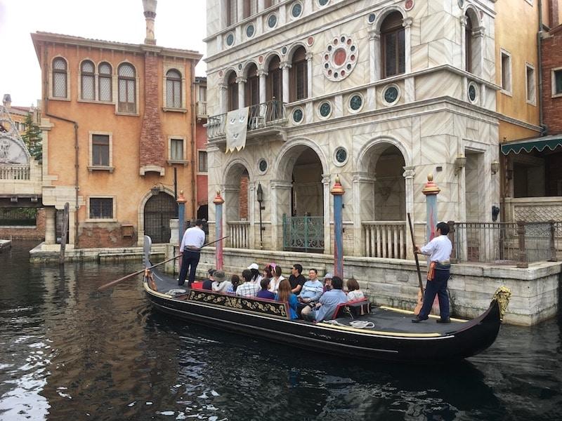 venetian gondolas at tokyo disney sea