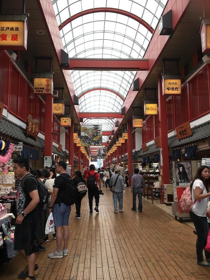 nishi sando shopping street in asakusa