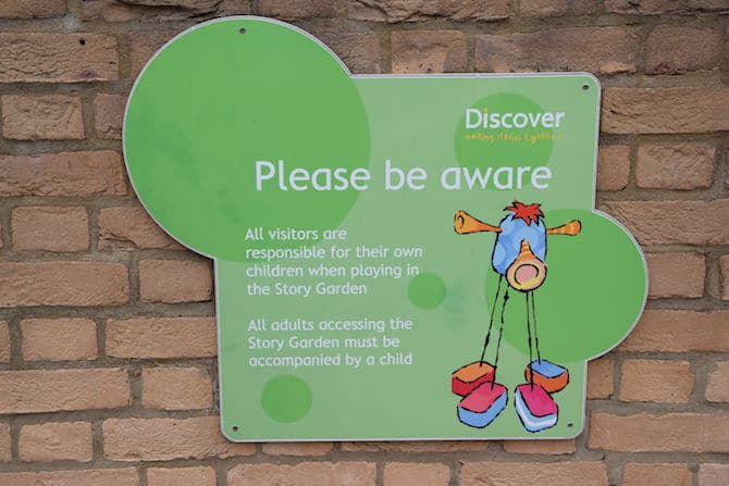discover story centre outdoor sign 2