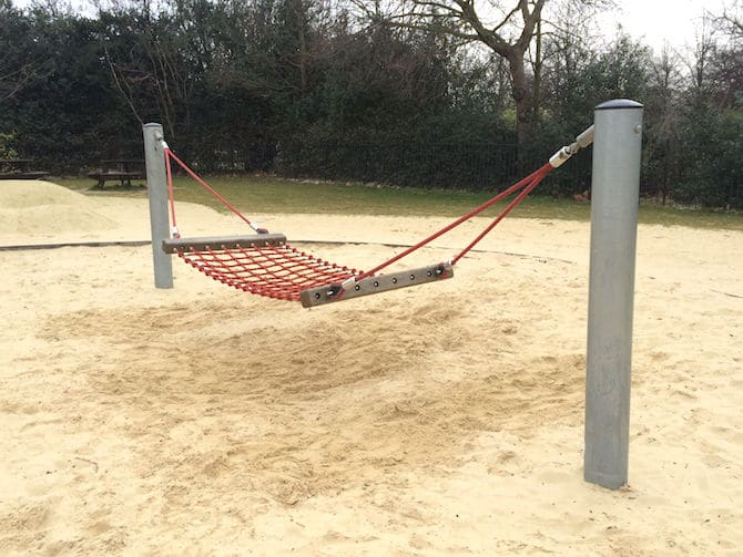 marylebone green playground hammock swing