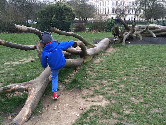 marylebone green playground just across park - nature play