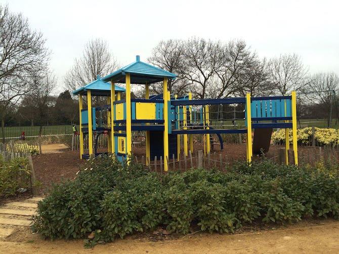 marylebone green playground yellow blue