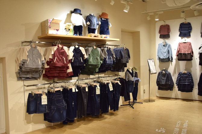 muji shibuya playroom kids clothes