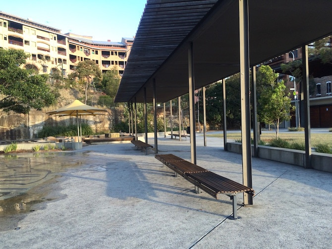 pirrama park playground seating near water park photo