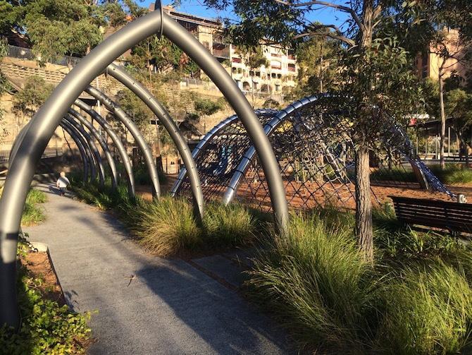 pic: pirrama park playground tunnels