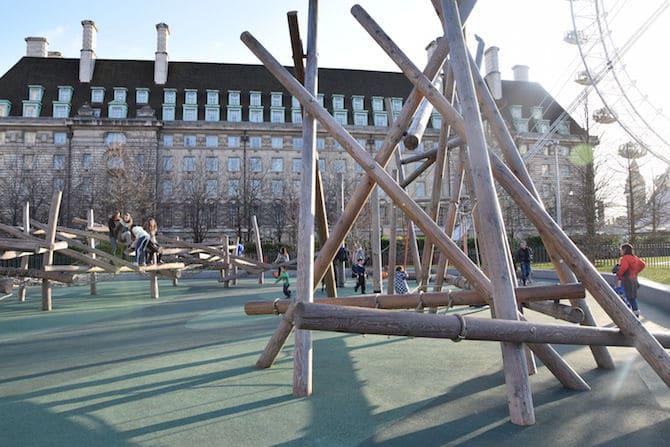 Jubilee playground near London Eye - in background