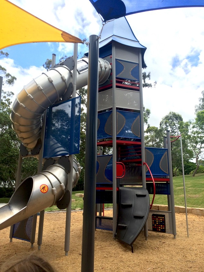 roselea park playground rapunzel tower