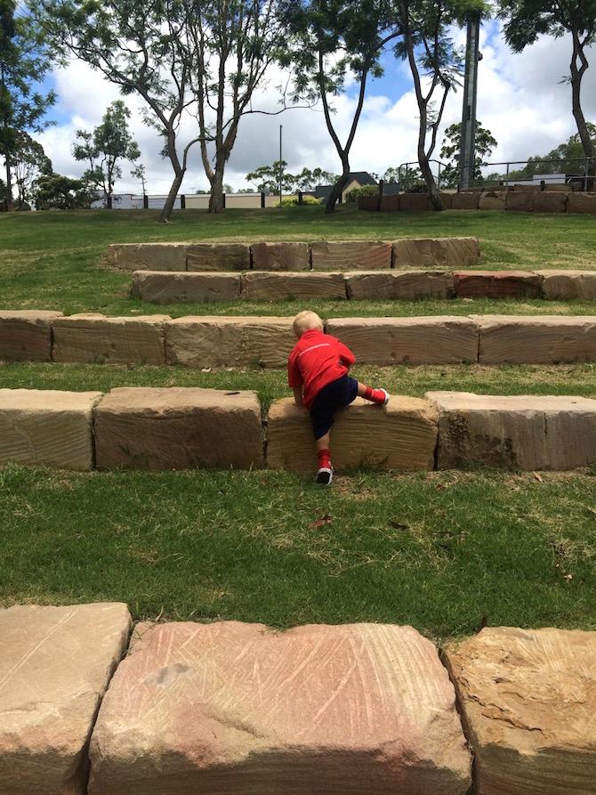 playgrounds near ikea logan rock wall