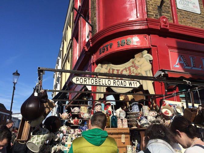 portobello markets london shopping areas