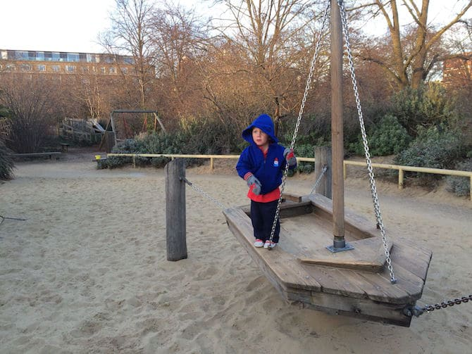 Visit ROAM THE GNOME Family Travel Website Directory for SUPER DOOPER FUN ideas for family vacations around the world. Search by city. Photo- Pirate Park Playground at Princess Diana Memorial playground Hyde Park jack on boat