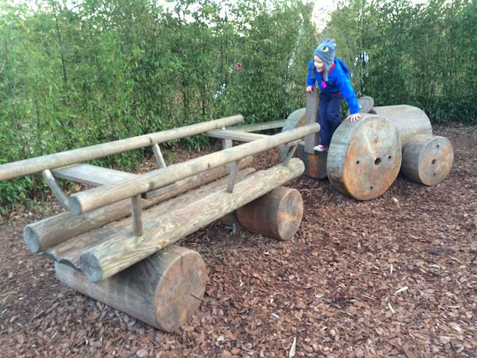Visit ROAM THE GNOME Family Travel Website Directory for SUPER DOOPER FUN ideas for family vacations around the world. Search by city. Photo- Pirate Park Playground at Princess Diana Memorial playground Hyde Parklog tractor