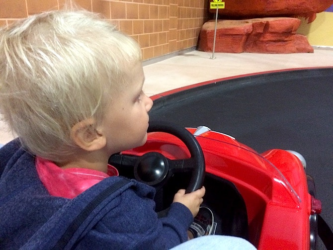 toddlers at movie world - junior driving school pic