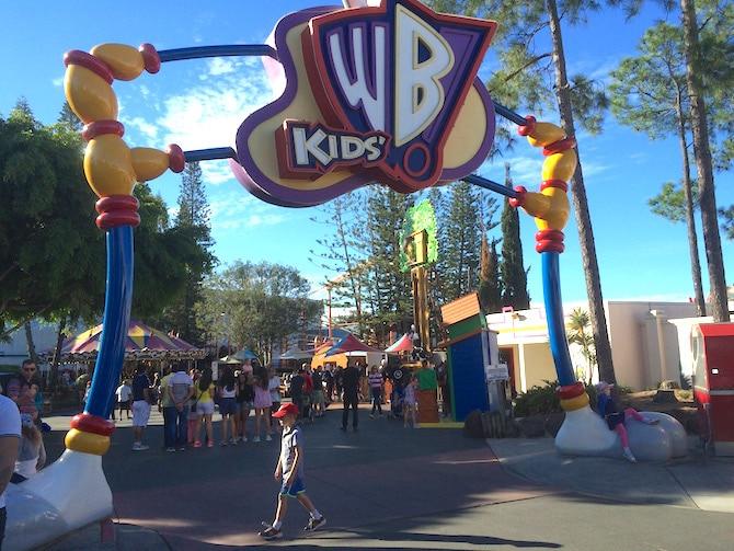 toddlers at movieworld WB kids world
