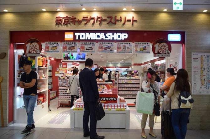 tokyo character street shopping tomica shop