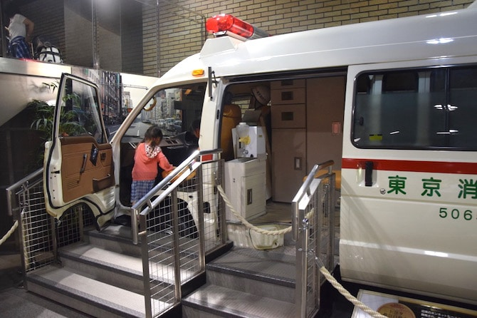 tokyo fire museum ambulance at this tokyo attractions for kids