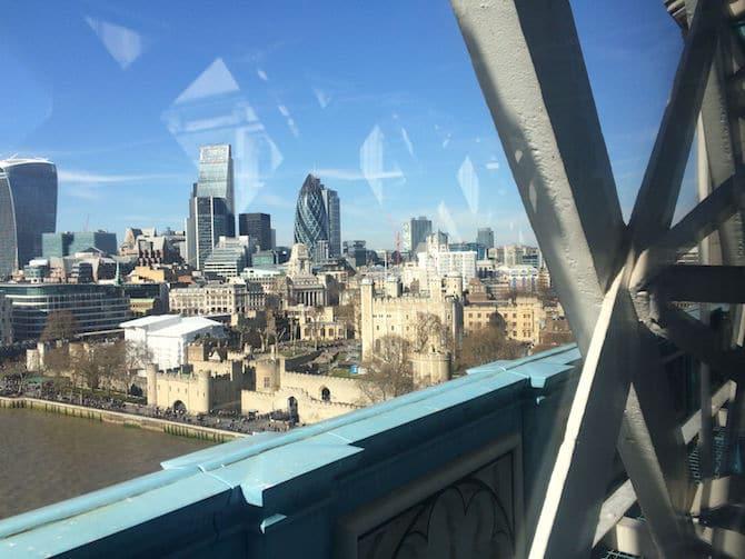 tower bridge glass floor walkway tower of london view