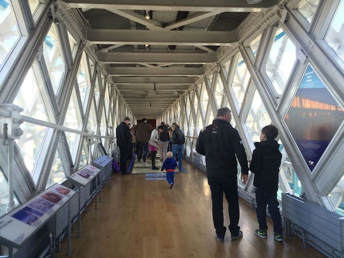tower bridge glass walkway tunnel