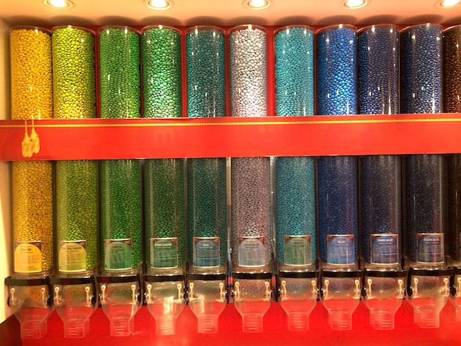 m&m world colours in tubes
