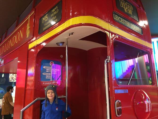 m&m world london bus