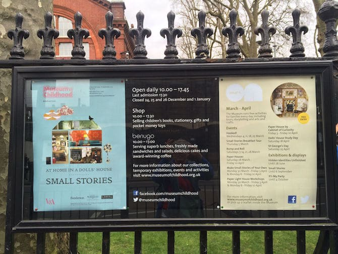 museum of childhood london review board of info