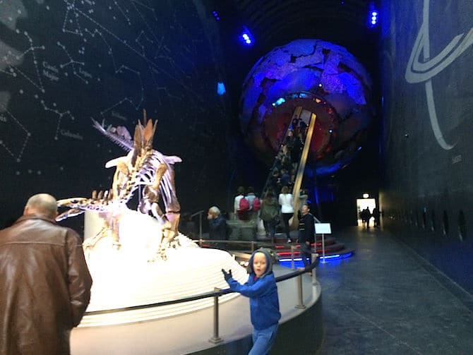 natural history museum for kids dinosaur and earth ball