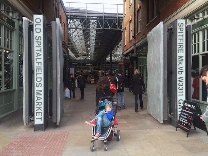 old spitalfields market food inside the london entrance door